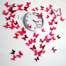Sale 12pcs/lot PVC 3D Waterproof Butterfly Wall Stickers Decor Art For Switch Refrigerator Kids Living Room Wall Home Decoration(China)