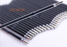 0.7mm Rod For Ballpoint Pen Roller Ball Pen Refills School Supplies Nice Office Chancery Ballpoint Pen Refill DD387(China)