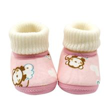 Newest 0-18Months Baby Shoes Infants Crochet Knit Fleece Boots Toddler Girl Boy Wool Snow Crib Winter Booties