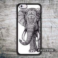 Tribal Elephant Case For iPhone 7 6 6s Plus 5 5s SE 5c and For iPod 5 High Quality Animal Totem Black White Cover Wholesale