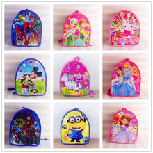 1pc 29*23*13cm PJ Masks Ocean Moana PP Bag Pink Pig Mickey SchoolBag Hello Kitty Daypack Gift Party Favors For Kids Boy Girl(China)