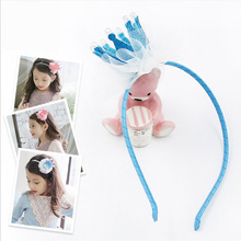 Celebrity kids Crown Headband Birthday Party Headwear Princess Crown Dress Dance HB021(China)