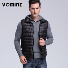 Vomint Brand New Mens Down Coat Vest Jacket Winter Light 90% Down Vest Short Slim Down Men Vest Short Jackets V7A1C003
