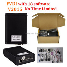V2015 FVDI Full Version Read Pin Code FVDI with 18 Software Diagnostic Tool for Audi for VW NO Time Limited  In Stock DHL Free