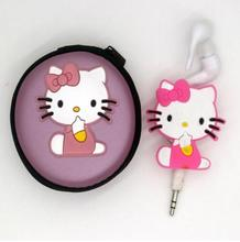 YHYZJL  2017 New Arrival free shipping Hello kitty Earphone for cell phone/ ipod mp3/mp4 mobile good quality cartoon