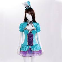FREE PP 2017 Discount Halloween/Christmas Alice in Wonderland Costumes Child Ssissy Maid Lolita Dress Love Live Cosplay Clothes