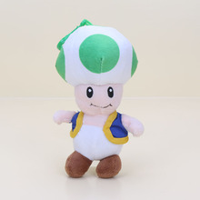 18CM Super Mario Bros Toad Plush Stuffed Dolls Plush Toys Figures toy Mushroom plush pendant keychain Toys doll