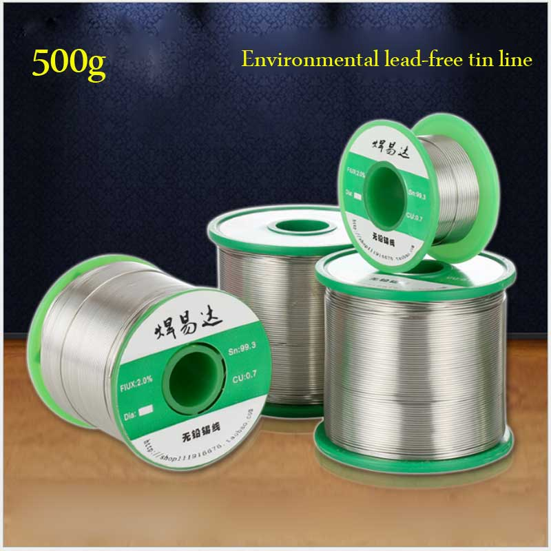 Green 500g 0.6mm~1.2mm ROHS lead-free solder wire Sn99.3CU0.7 rosin core diameter<br>