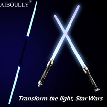 2 pcs/lot  Led Flashing Light Sword Toys Cosplay Weapons Double Sabers kids toys gifts for children