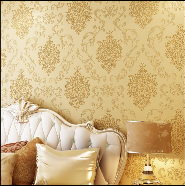 10m*53cm classic wall stickers wall paper Luxury fashion wallpaper non-woven fabric wall covering fashion tv wall bronzier<br><br>Aliexpress