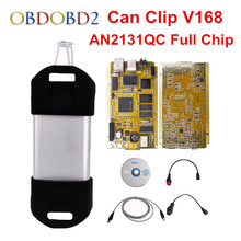 AN2131QC Gold PCB For Renault Can Clip Full Chip Professional Diagnostic Tool V168 Multi-Languages Can Clip DHL Free