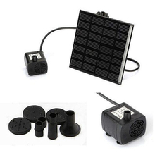 7V 1.1W 180L/H Brushless DC Solar Power Fountain Water Pump Spray Panel Kit For Pool Home Garden Decor Fish Pond Watering Pumb