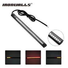 Ironwalls 32 LED Motorcycle Tail Light Strip Brake Universal Lamp Turn Signal For Harley Dyna ATV SUV Vans Trucks SMD Automotive