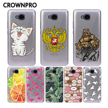 CROWNPRO For Huawei Honor 5C Case Silicone Case TPU Back For Huawei Honor 5C Soft Silicon Cases Cover Without Fingerprint Hole