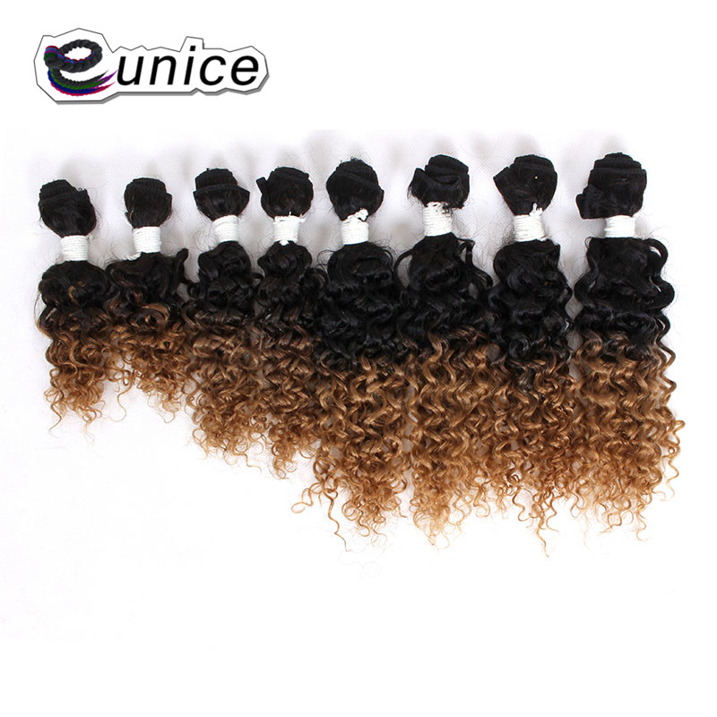 Deep Wave Brazilian Hair Ombre Human Hair Weave Bundles Extensions blond burgundy colors   (8)