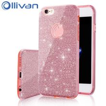 Buy OLLIVAN Bling Shining Powder Case iPhone 7 6 6S Plus Phone Soft Silicone Glitter Cover Back Cases iPhone 6 7 6 S Capa for $3.08 in AliExpress store