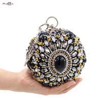 Moccen Evening Dress Handbag Floral Women Bag Party Clutch Wallet  Fashion Purse Female Purses And Handbags