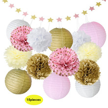 High-end Pretty Bright Paper Flower Balls Tassel Strings Birthday Party Wedding Decoration Party Background Decoration 3 Types(China)