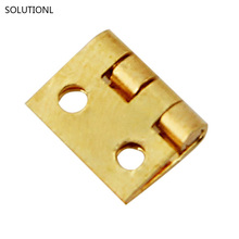 New Arrival 20pcs Mini Small Metal Hinge for 1/12 House Miniature Cabinet Furniture(China)