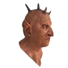 Halloween Scary Six Horned Mask Full Face Horror Monster Latex Masks Fancy Masquerade Full Face Cosplay Props Rubber Toys Gifts