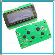5pcs/lot LCD 2004 20x4 Character LCD Display Module HD44780 Controller blue screen backlight(China)