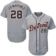 MLB Men's Detroit Tigers JD Martinez Baseball Road Gray Flex Base Authentic Collection Player Jersey(China)