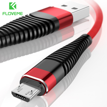 FLOVEME Micro USB Cable Samsung S6 S5 1m 2m Hi-Tensile Nylon Data Sync Fast Charger Cabo Phone Cable Xiaomi Android USB