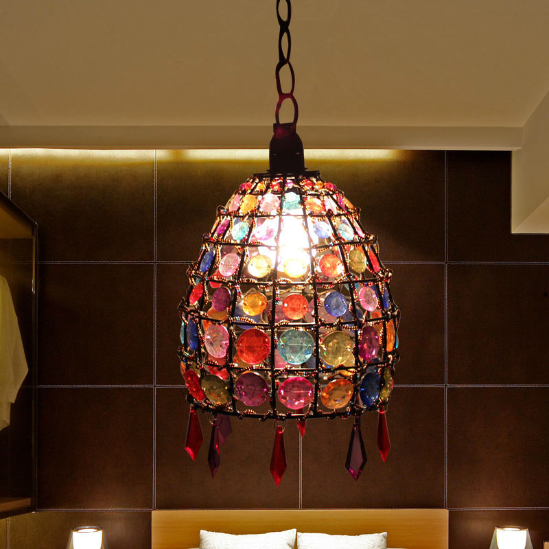 led bulb Nepal chandelier Asia Restaurant Bar entrance hallway small European retro bedroom lamp chandelier D-25<br>