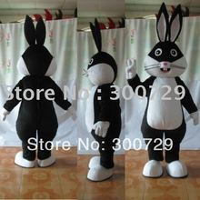 black and white bunny mascot costume easter bunny costume stand ear rabbit costumes