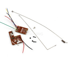 4CH RC remote control 27MHz/40Mhz circuit PCB transmitter&receiver board for toy car(China)