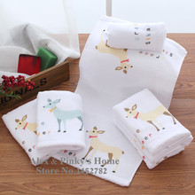 Fawn Cotton Gauze Towel Washcloth Towel For Children Travel Towel