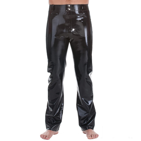 Latex Rubber Rubber Jeans With Front & Back Pockets1