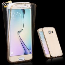 KISSCASE 360 Degree Full Body Cover Case For Samsung Galaxy S6 Edge Plus S7 Edge A7 A5 2016 J7 Smart Touch Screen Cases Fundas