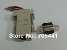 10pcs/lot Free Shipping DB9 Female to RJ45 Female RS232 Modular Adapter(China)