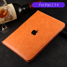 Luxury Ultra Slim Shockproof Automatic Wake-up / Sleep Smart Cover Leather Case for IPad 2 3 4