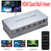 4 video signal to 1 Screen Seamless Switcher HDMI Multi-viewer HDMI Quad Screen Real Time Multiviewer Full 1080P 3D HDCP