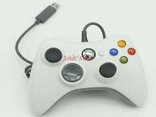 Brand new USB Wired Joypad Gamepad white Controller For Microsoft for Xbox & Slim for 360 PC for Windows 7(China)