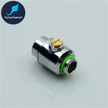 G1/4'' mini Silver Valve of female + male part for waterway control for PC computer water cooling system used