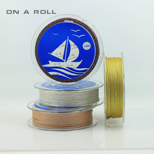 Diy accessories woven wire wear bead cord jewelry line Gold wire silver wire core jade line(China)