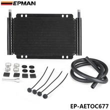 Racing Car Series 8000 Type 13 Row Aluminum Plate & Fin Transmission Oil Cooler EP-AETOC677(China)