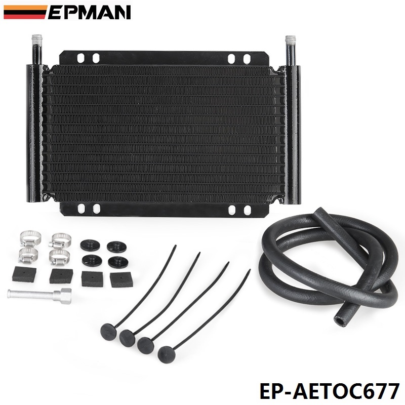 Racing Car Series 8000 Type 13 Row Aluminum Plate &amp; Fin Transmission Oil Cooler EP-AETOC677<br>