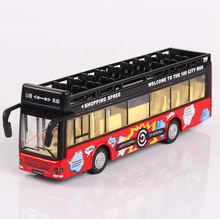 Interesting children's intelligence toys, automotive alloy die-casting, double decker bus model, children's toys, toys, cars(China)