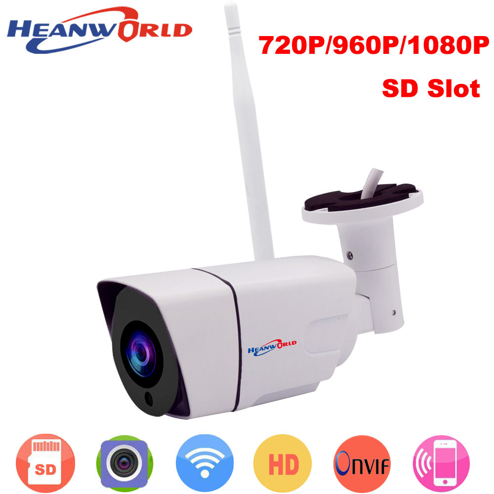 Heanworld 720P/960P/1080P waterproof wifi camera with SD slot HD surveillance IP camera with beautiful appearance well vision<br>