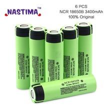 NASTIMA NCR18650B 100% Original Brand 18650 battery 3.7v 3400mAh Rechargeable Li-ion Battery Panasonic flashlight - Nastima Store store
