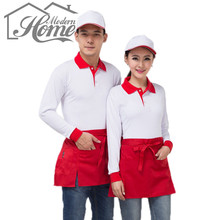 Chef Waiter Apron Bifurcate Cotton Sleeveless Aprons Durable Antifouling Wear Waist Aprons Restaurant Cooking Cafe Aprons Unisex