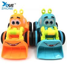 Q version of mini engineering car Baby Toy Happy Professional Cartoon Car Go Powered Fun Toy For Children Kids Boy(China)