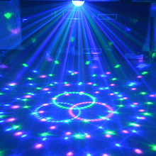 9 Colors 27W Crystal Magic Ball Led Stage Lamp 21Modes Disco Laser Light Party Lights Sound Control Christmas Laser Projector