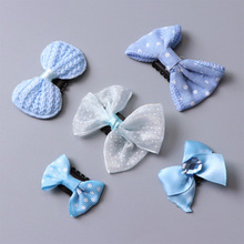 Buy 5Pcs/Set Fashion Cute Small Hair Bows Safety Hair Clips Girls Flowers Headbands Kids Hair Ornament Hairpins Hair Accessories for $1.46 in AliExpress store