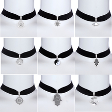 New Fashion Women Collars Accessories Hope Best Wishes Black Velet Charm Choker Necklace For Women Best Friends Best Presents