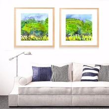 Spring Trees Green Artwork Canvas Art Print Painting Poster Wall Pictures For Living Room Home Decorative Bedroom Decor No Frame(China)